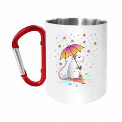 Кружка з ручкою-карабіном Mouse and rain