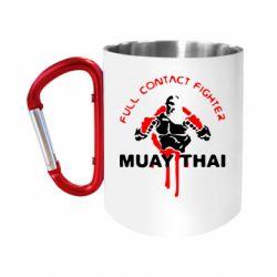 """Кружка с ручкой """"карабин"""" Muay Thai Full Contact"""