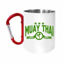 Кружка з ручкою-карабіном Muay Thai Hard Body