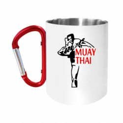 Кружка з ручкою-карабіном Muay Thai kick
