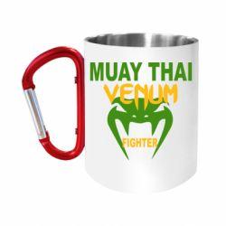 """Кружка с ручкой """"карабин"""" Muay Thai Venum Fighter"""