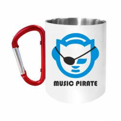 Кружка з ручкою-карабіном Music pirate
