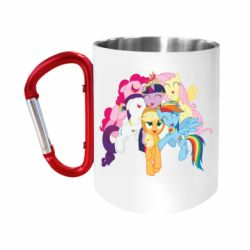 "Кружка с ручкой ""карабин"" My Little Pony"