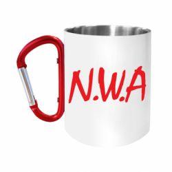 """Кружка с ручкой """"карабин"""" N.W.A Logo"""