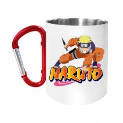 "Кружка з ручкою ""карабін"" Naruto with logo"