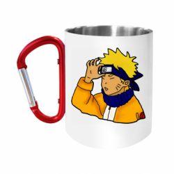 """Кружка с ручкой """"карабин"""" Narutooo"""