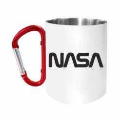 Кружка з ручкою-карабіном NASA logo