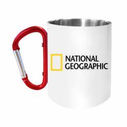"""Кружка с ручкой """"карабин"""" National Geographic logo"""