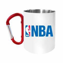 """Кружка с ручкой """"карабин"""" NBA Logo"""