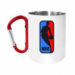 Кружка з ручкою-карабіном NBA
