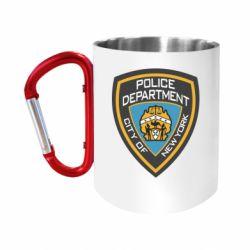 Кружка з ручкою-карабіном New York Police Department