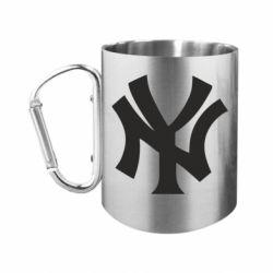 Кружка з ручкою-карабіном New York yankees