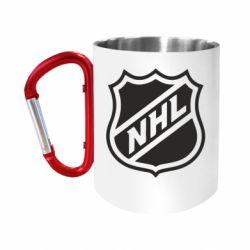 Кружка з ручкою-карабіном NHL