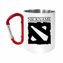 """Кружка с ручкой """"карабин"""" Nickname Dota"""