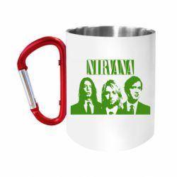 """Кружка с ручкой """"карабин"""" Nirvana (Нирвана)"""
