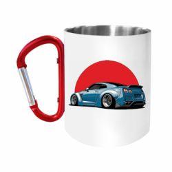 """Кружка с ручкой """"карабин"""" Nissan GR-R Japan"""