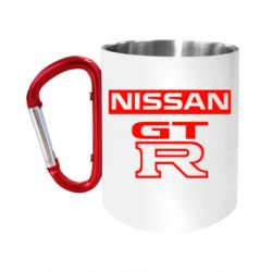 Кружка з ручкою-карабіном Nissan GT-R
