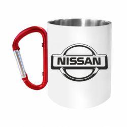 Кружка з ручкою-карабіном Nissan Логотип