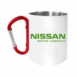 Кружка з ручкою-карабіном Nissan Motor Company