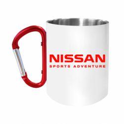 Кружка з ручкою-карабіном Nissan Sport Adventure