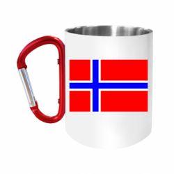 Кружка з ручкою-карабіном Норвегія