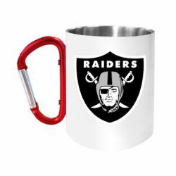 Кружка з ручкою-карабіном Oakland Raiders