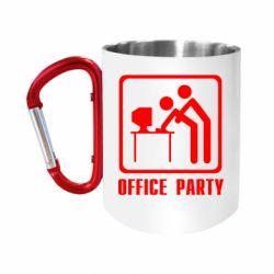 """Кружка с ручкой """"карабин"""" Office Party"""