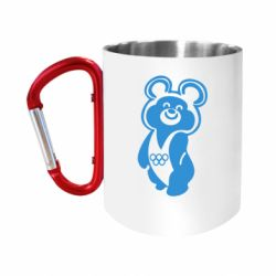 Кружка з ручкою-карабіном Олімпійський Ведмедик