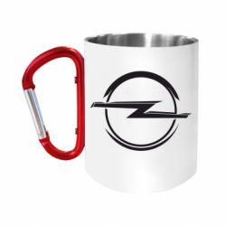 Кружка з ручкою-карабіном Opel Log