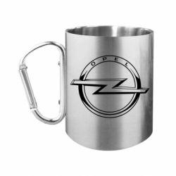 Кружка з ручкою-карабіном Opel logo
