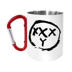 "Кружка с ручкой ""карабин"" Oxxxy"