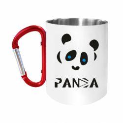 Кружка з ручкою-карабіном Panda blue eyes