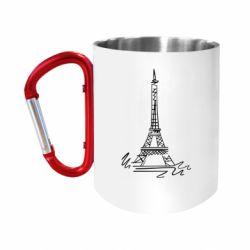 """Кружка с ручкой """"карабин"""" Paris"""