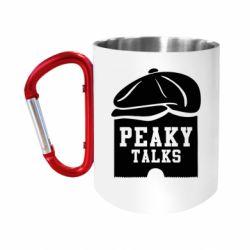 Кружка з ручкою-карабіном Peaky talks
