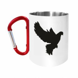 "Кружка с ручкой ""карабин"" Pigeon silhouette"