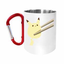 Кружка з ручкою-карабіном Pikachu in the sticks