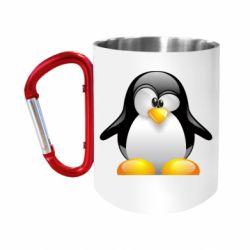 Кружка з ручкою-карабіном Пінгвін
