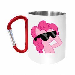 """Кружка с ручкой """"карабин"""" Pinkie Pie Cool"""