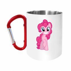 "Кружка с ручкой ""карабин"" Pinkie Pie smile"