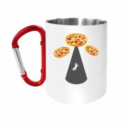 Кружка з ручкою-карабіном Pizza UFO