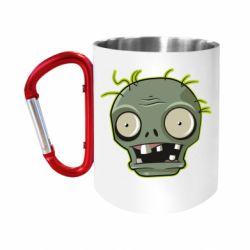 Кружка з ручкою-карабіном Plants vs zombie head