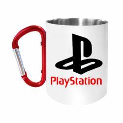 """Кружка с ручкой """"карабин"""" PlayStation"""