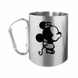 Кружка з ручкою-карабіном Поцілунок мишок (ж)