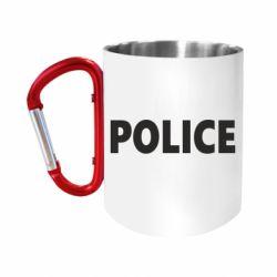 """Кружка с ручкой """"карабин"""" POLICE"""