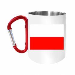 """Кружка с ручкой """"карабин"""" Польша"""