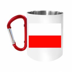 Кружка з ручкою-карабіном Польща