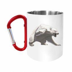 Кружка з ручкою-карабіном Полярний ведмідь