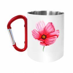 """Кружка с ручкой """"карабин"""" Poppy flower"""