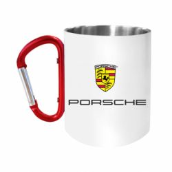 """Кружка с ручкой """"карабин"""" Porsche"""