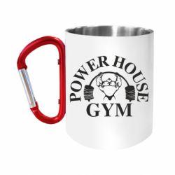 "Кружка с ручкой ""карабин"" Power House Gym"